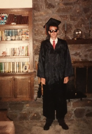 One cool graduate in May of 1989
